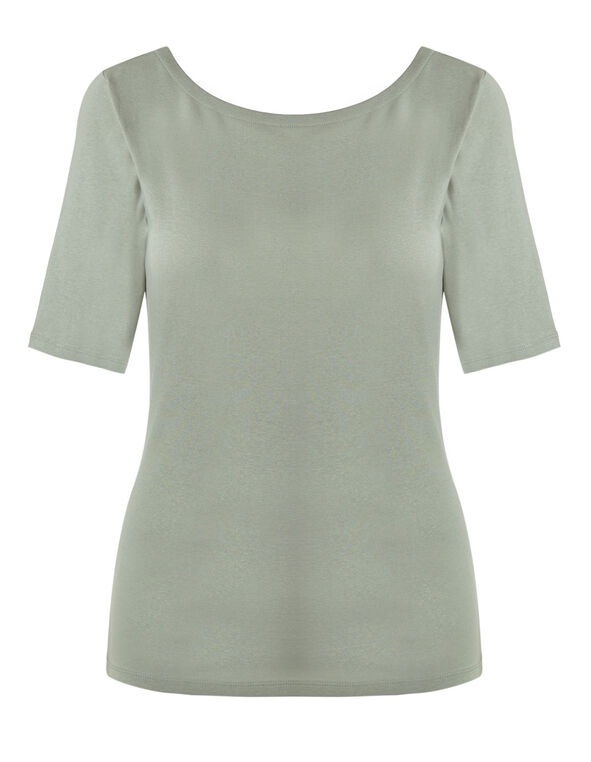 Light Green Cotton Tee, Lt Green, hi-res