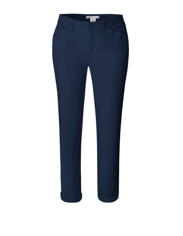 Navy Cotton Chino Ankle Pant, Navy, hi-res