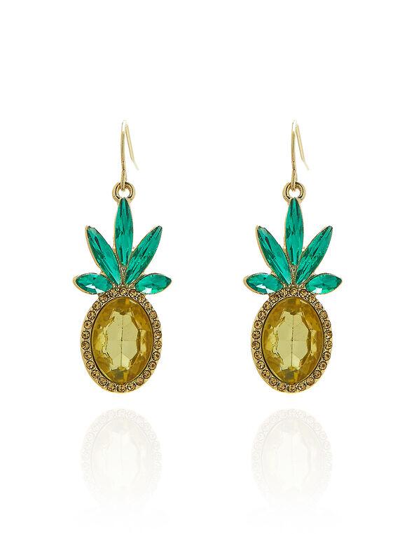 Pineapple Crystal Earring, Multi, hi-res