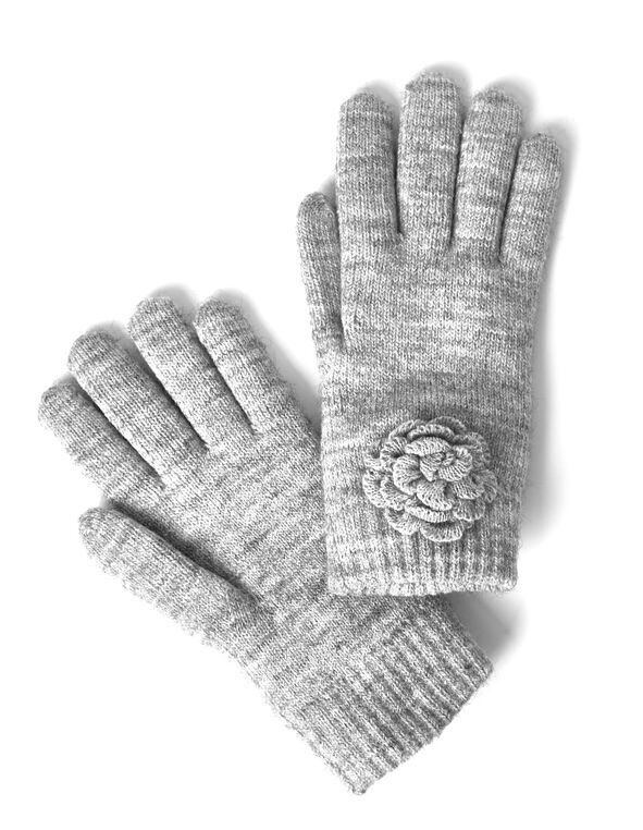 Grey Chenille Ultra Soft Glove, Grey, hi-res