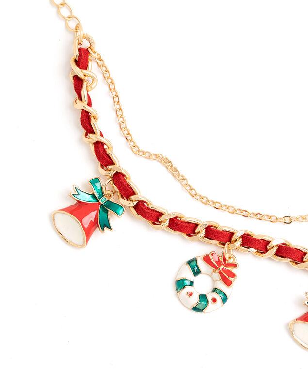 Double Chain Charm Bracelet, Gold