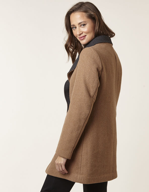 Camel Wool Blend Coat, Camel, hi-res
