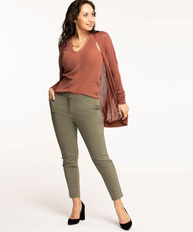Sleeveless Recycled V-Neck Sweater, Rose