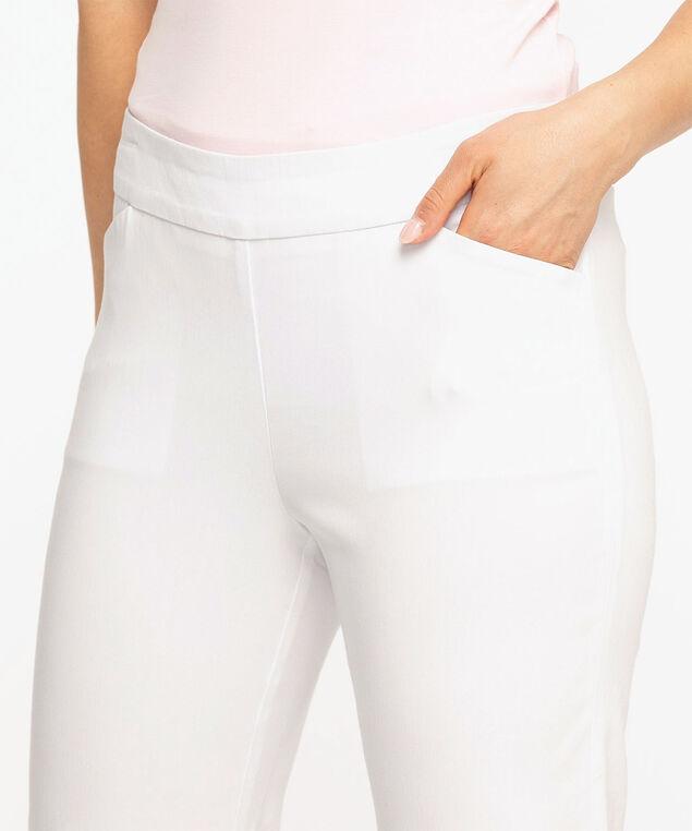 Slim Leg Pull-On Capri, White