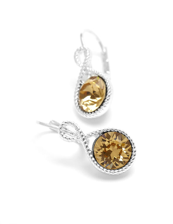 Yellow Genuine Crystal Drop Earring, Neutral, hi-res