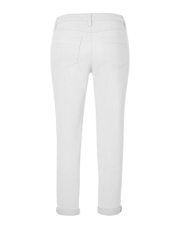 White Slim Ankle Jean, White, hi-res