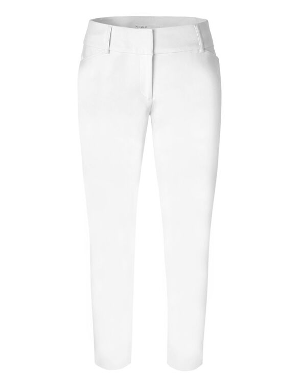 White Ankle Pant, White, hi-res