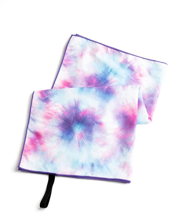 Microfibre Quick Dry Towel, Blue/Indigo/Pink/White Tie-Dye