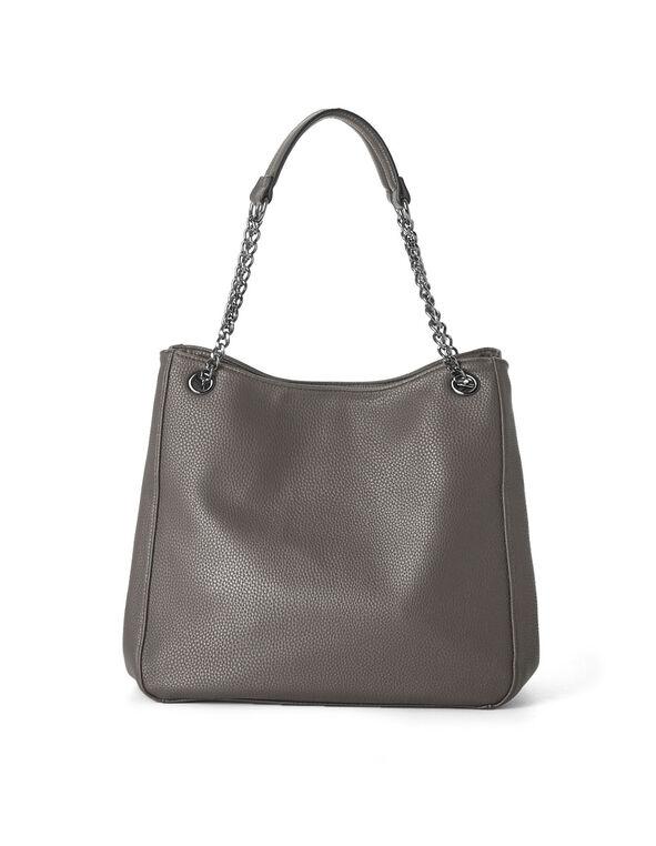 Grey Hobo Tote Handbag, Grey, hi-res