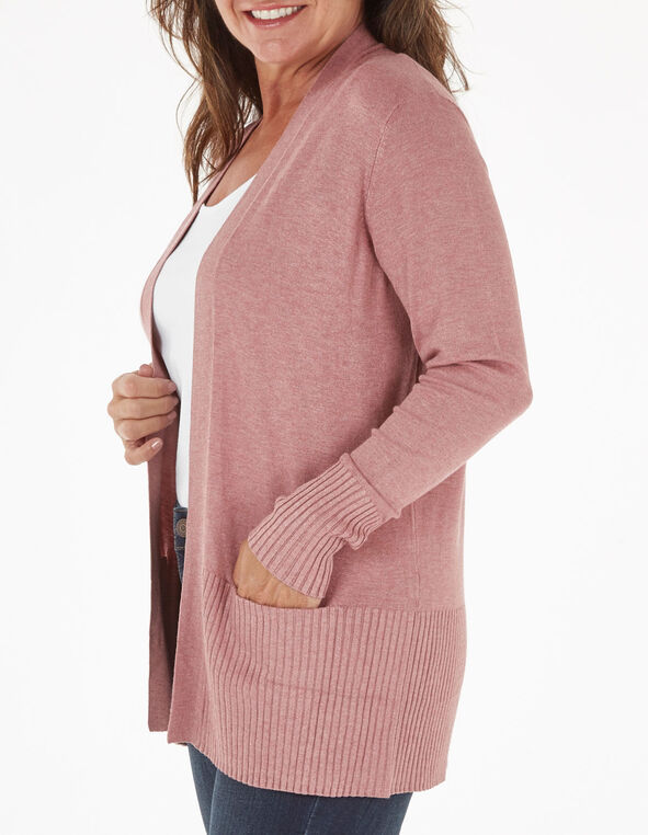 Rose Essential Cardigan, Rose, hi-res