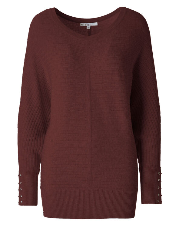 Brick Dolman Sweater, Brick, hi-res