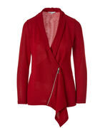 Red Drape Front Hacchi Top, Red, hi-res