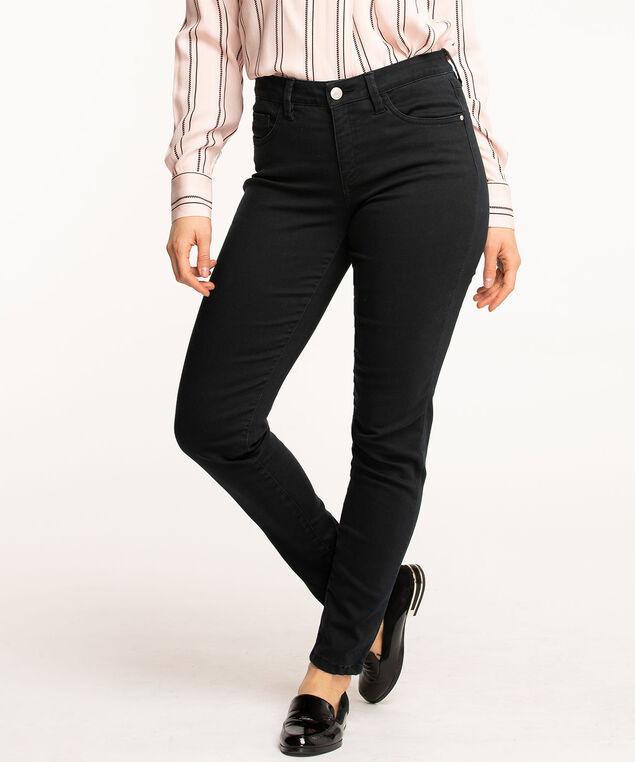 Butt Lift 5-Pocket Slim Pant, Black