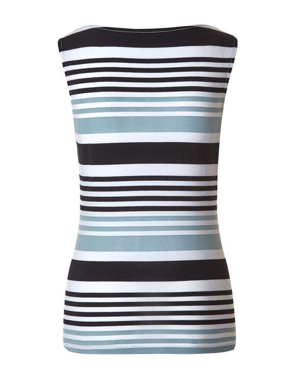 Navy Stripe Essential Layering Top, Navy/Teal, hi-res