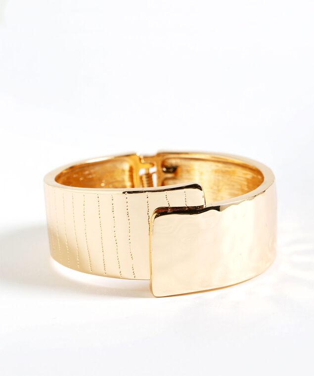 Gold Hinge Cuff Bracelet, Gold, hi-res