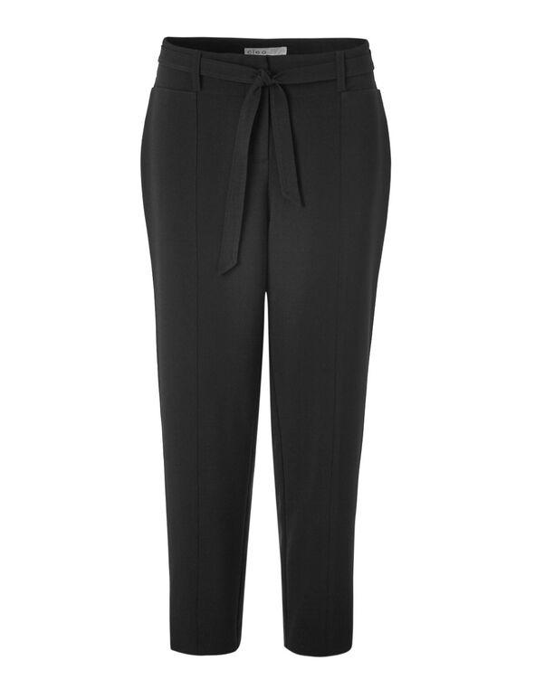Black Paper Bag Ankle Pant, Black, hi-res