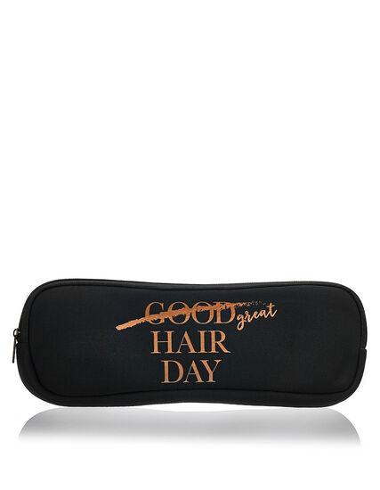 Black Hair Tool Case, Black, hi-res