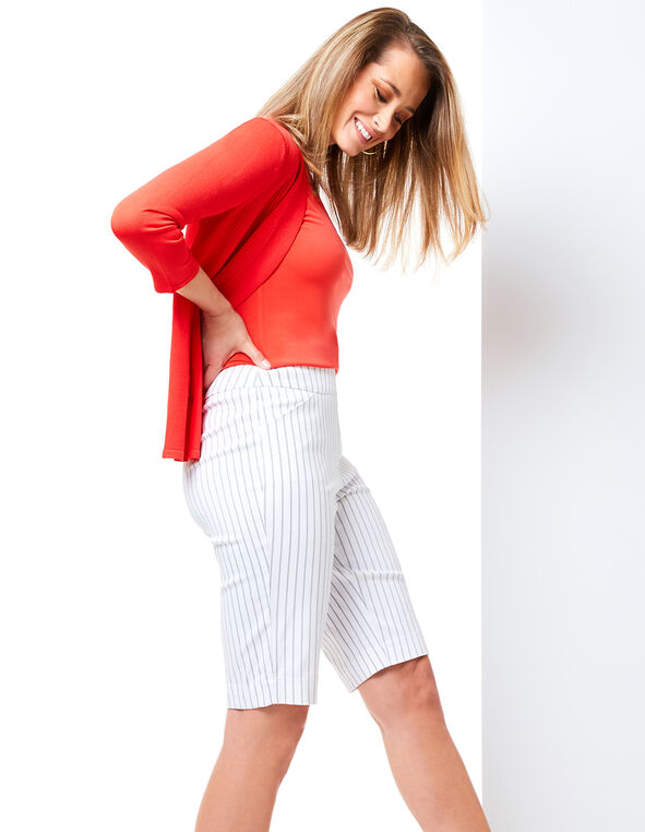 Striped Pull On Short Look, , hi-res