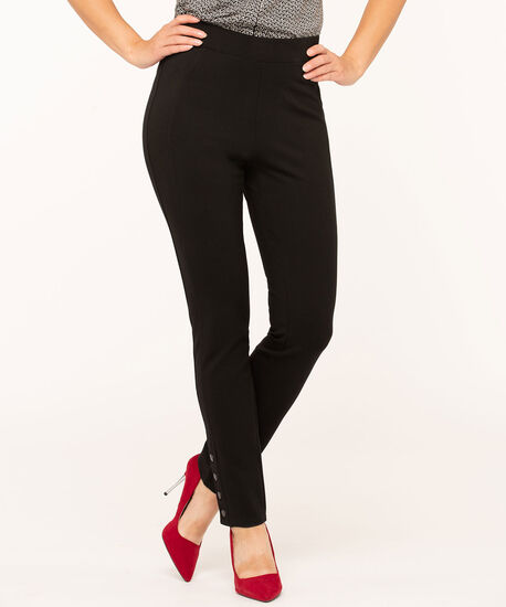 Black Snap Bottom Legging, Black, hi-res