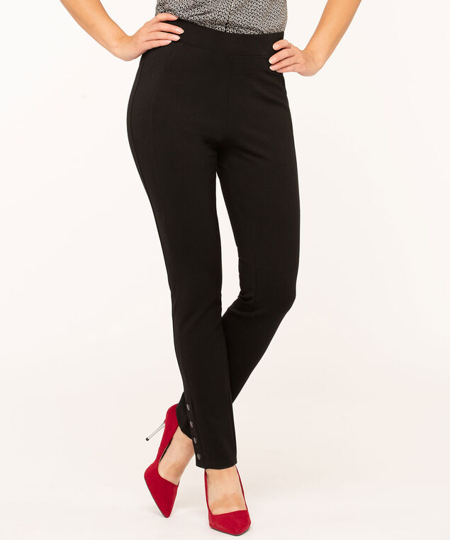 Black Snap Bottom Legging, Black
