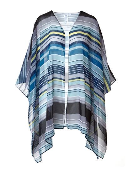Blue Striped Kimono, Blue, hi-res
