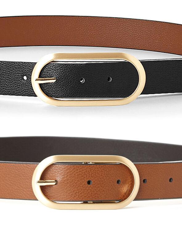 Black/Brown Reversible Belt, Brown/Black, hi-res