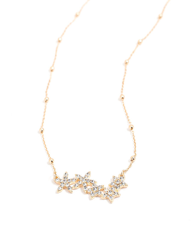 Short Stars Pendant Necklace, Gold