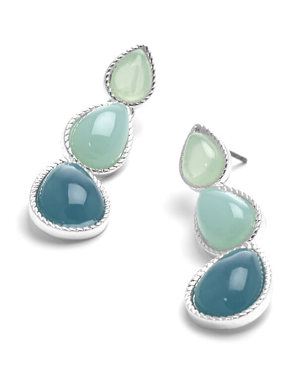 Turquoise Stone Earring, Turquoise, hi-res
