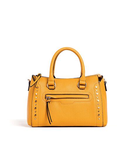 Yellow Gold Studded Handbag, Marigold/Gold Metal, hi-res