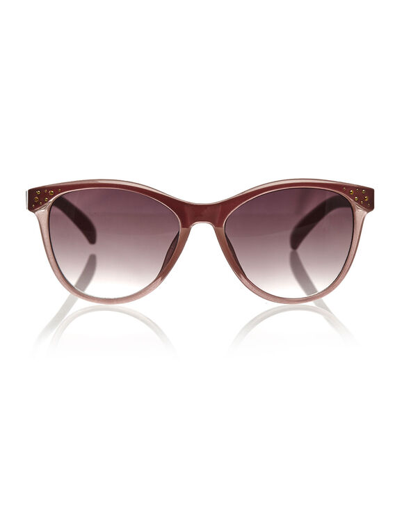 Pink Wayfarer Sunglasses, Pink, hi-res