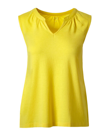 Yellow Sleeveless Tee, Sunshine Yellow, hi-res