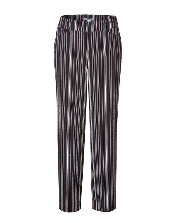 Wine Striped Wide Leg Pant, Sangria/Black, hi-res