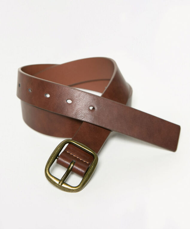 Brown Casual Jean Belt, Brown, hi-res