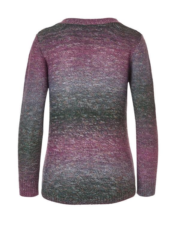 Raspberry Criss Cross Sweater, Raspberry, hi-res