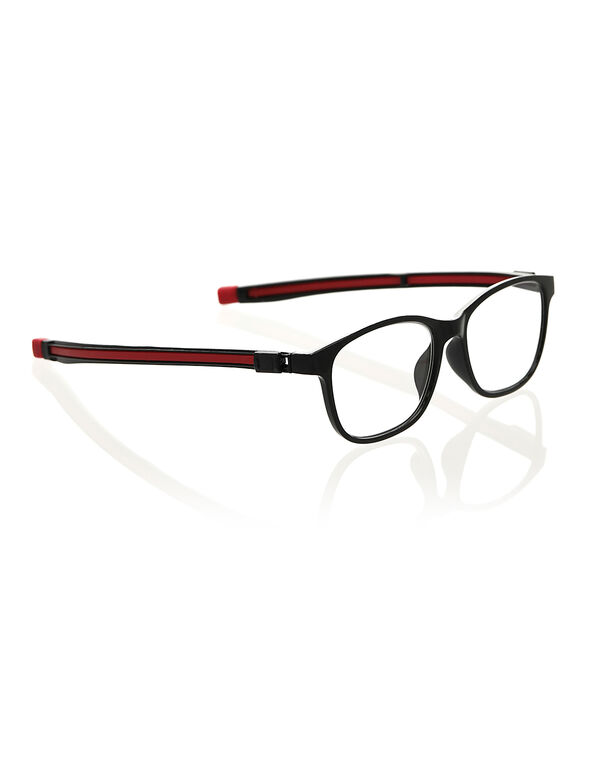 Black & Red Slim Reader, Black, hi-res
