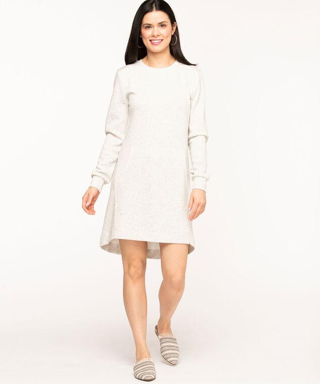 Oversized Sweatshirt Dress, Light Grey Mix