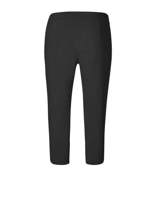 Black Capri Pull On Pant, Black, hi-res
