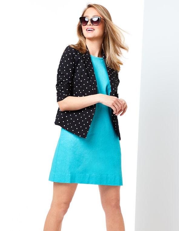 Jade Linen Dress Look, , hi-res