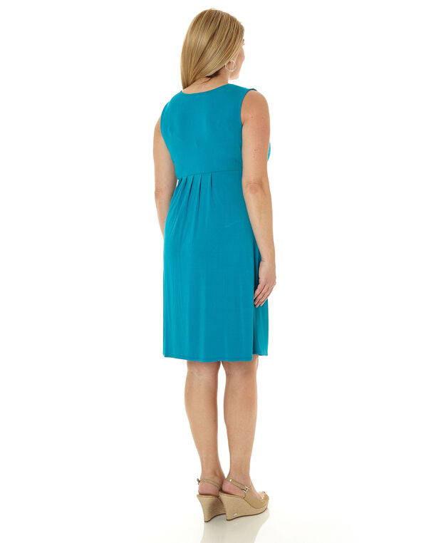 Electric Blue Fit & Flare Dress, Turquoise, hi-res