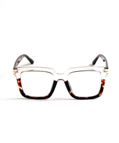 Two-Tone Blue Light Reader Glasses, Brown, hi-res