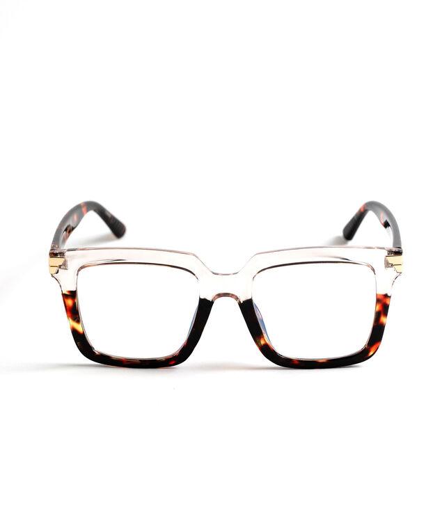 Two-Tone Blue Light Reader Glasses, Brown