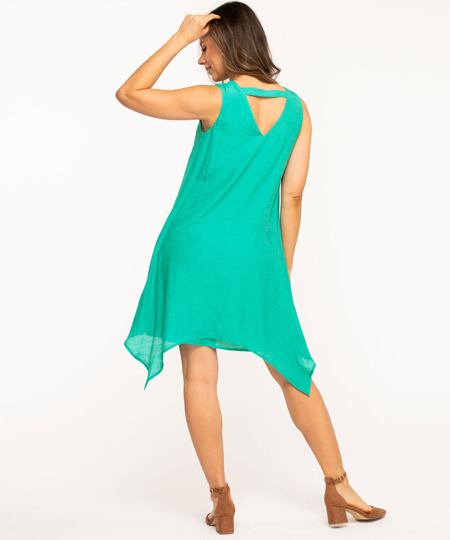 Jade Layered Sharkbite Dress, Jade