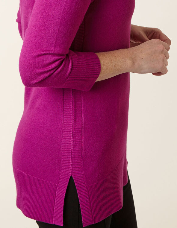 Fuchsia Essential Sweater, Fuschia, hi-res