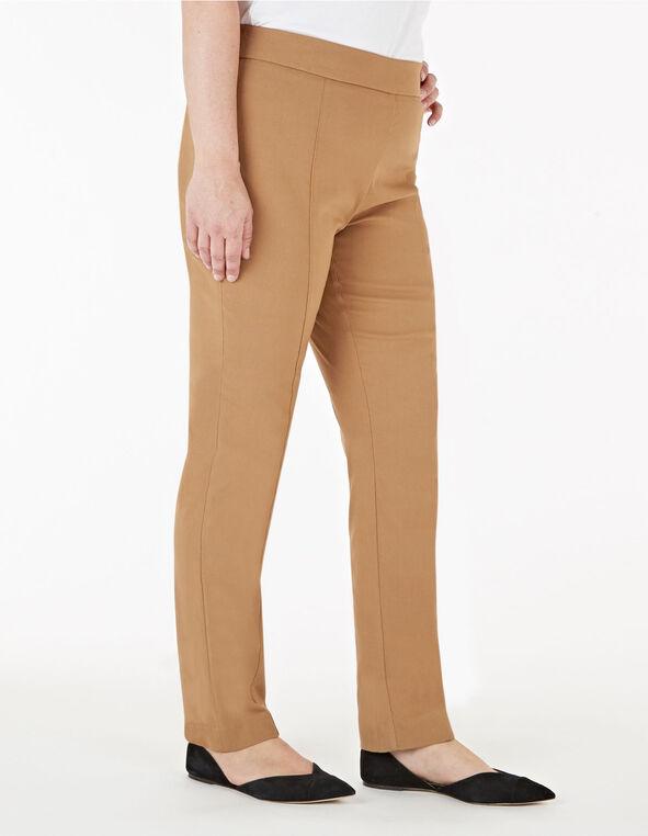 Camel Pull On Slim Pant, Camel, hi-res