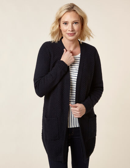 Navy Textured Cardigan, Navy, hi-res