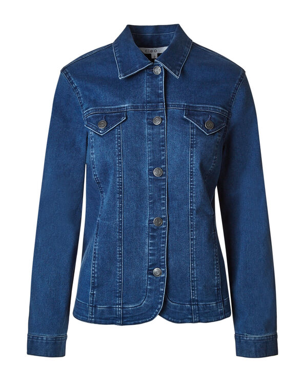 Mid Wash Denim Jacket, Mid Wash, hi-res