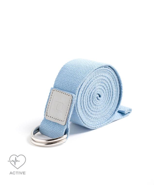 Coloured Cotton Yoga Strap, Blue