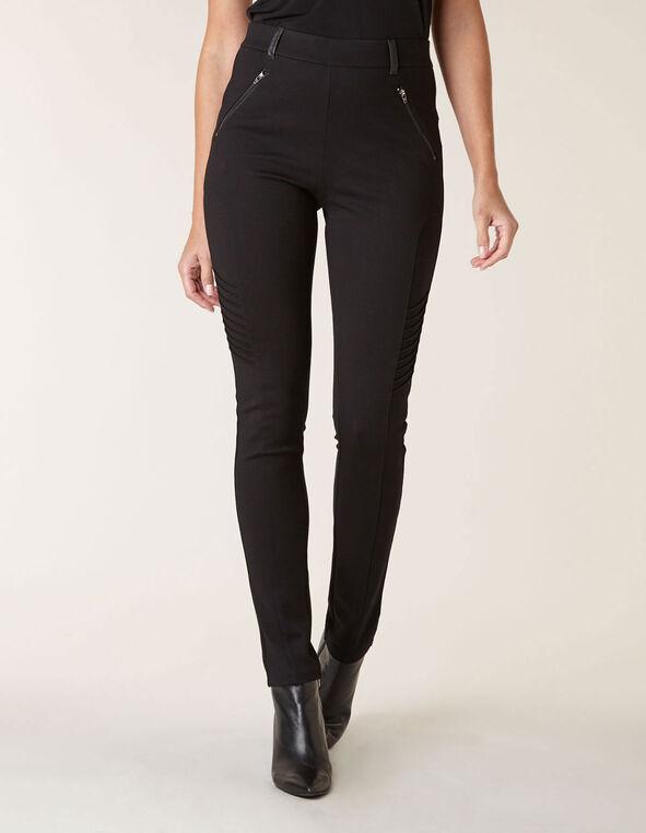 Black Moto Knit Legging, Black, hi-res