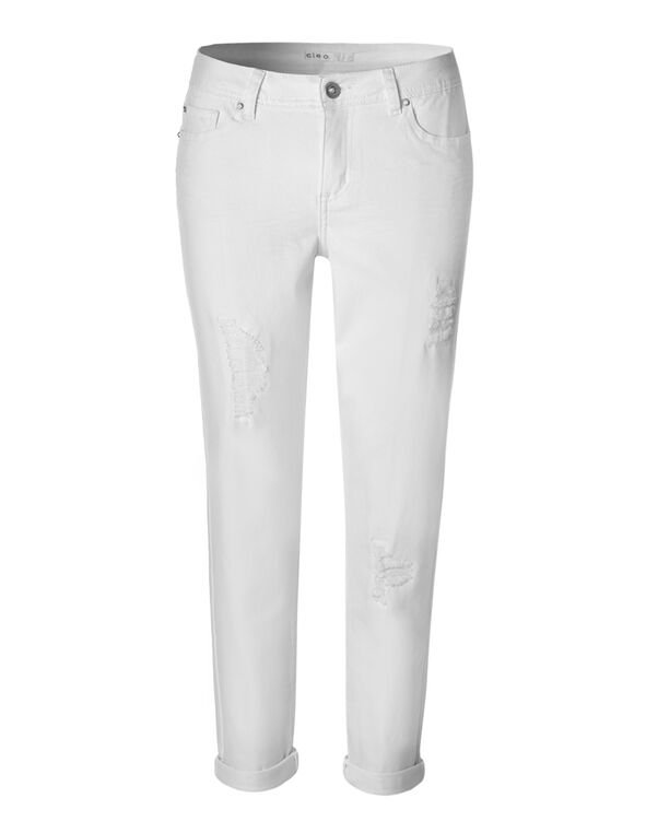 White Every Body Ankle Jean, White, hi-res