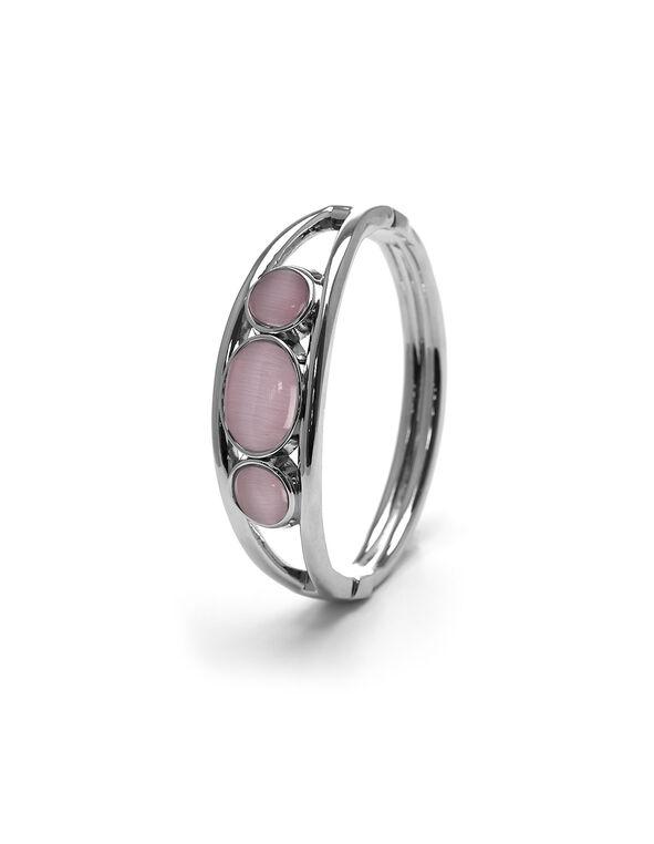 Pink Cat Eye Hinge Bracelet, Pink, hi-res